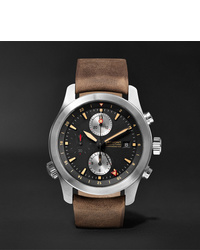 Bremont Alt1 Zt51 Chronograph 43mm Stainless Steel And Leather Watch