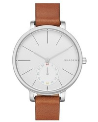 Skagen Hagen Leather Strap Watch 34mm