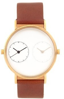 Kit Keung Long Distance 10 Steel And Leather Watch