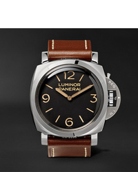 Panerai Luminor 1950 3 Days Acciaio 47mm Stainless Steel And Leather Watch Ref No Pam00372