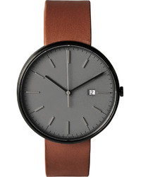 M40 pvd plated stainless steel and leather watch medium 578998