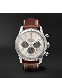 Breitling Navitimer 8 B01 Chronograph 43mm Stainless Steel And Leather Watch Ref No Ab01171a1g1x1