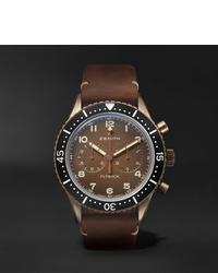 Zenith Pilot Cronometro Tipo Cp 2 Automatic 43mm Bronze And Nubuck Watch Ref No 29224040518c801