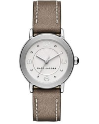 Marc Jacobs Riley Round Leather Strap Watch 28mm