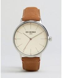 Ben Sherman Tan Leather Watch