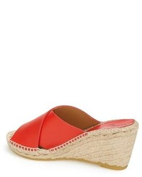 36af217c088 ... Bettye Muller Dijon Leather Wedge Espadrille Slide Sandal
