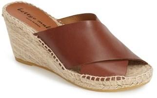 6dc0b35816f ... Bettye Muller Dijon Leather Wedge Espadrille Slide Sandal ...