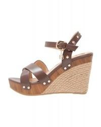 High heeled sandals brown medium 4379407