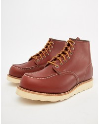 Red Wing 6 Inch Classic Moc Toe Boots In Oro Russet Leather
