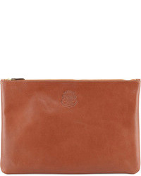 Brown Leather Zip Pouch