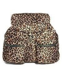 Brown Leopard Backpack
