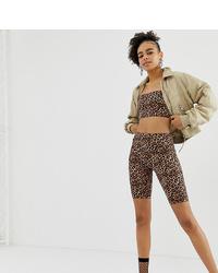 Brown Leopard Bike Shorts