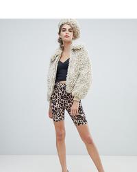 New Look Legging Shorts In Leopard Print