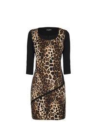 Brown Leopard Bodycon Dress
