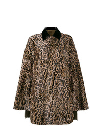 Brown Leopard Cape Coat