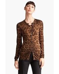Dolcegabbana leopard print cardigan medium 85103