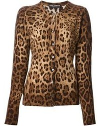 Leopard print cardigan medium 85099