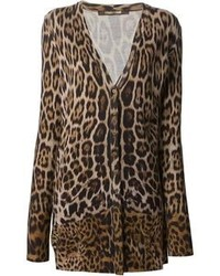 Leopard print cardigan medium 85101