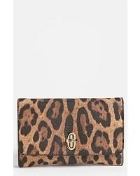 Brown Leopard Clutch