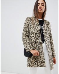 Missguided Formal Tailored Coat In Leopard