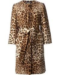 Dolce & Gabbana Leopard Print Coat
