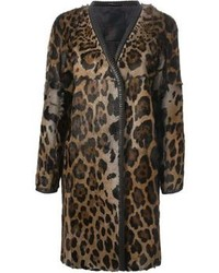 Liska gladice leopard print coat medium 110304
