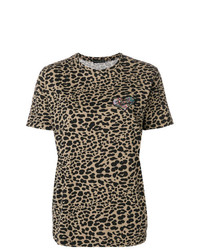Etro Embroidered Animal Print T Shirt