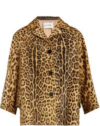 Valentino Leopard Print Calf Hair Jacket