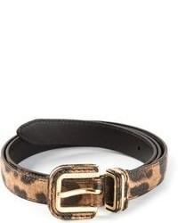 Dolce & Gabbana Leopard Print Belt