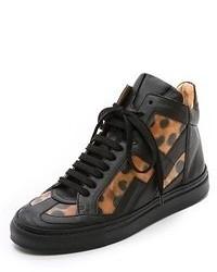 Mm6 leopard high top sneakers medium 55835