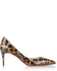 Iriza 70 leopard print patent leather pumps leopard print medium 380269