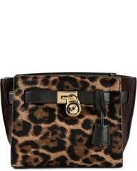 Michl michl kors hamilton traveler leopard print messenger bag medium 101246