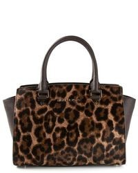 Michl michl kors large selma leopard satchel medium 101245