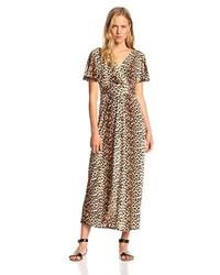 Brown Leopard Maxi Dress