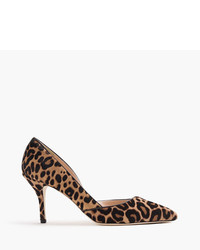 J.Crew Colette Dorsay Pumps In Leopard Calf Hair