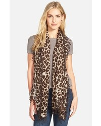 La Fiorentina Animal Print Wool Scarf