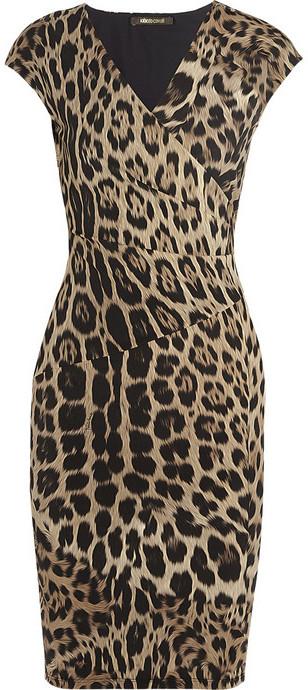 8664b5b03f7ed Roberto Cavalli Leopard Print Stretch Jersey Dress, £813 | NET-A ...