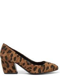 Calamity leopard print suede pumps leopard print medium 710203