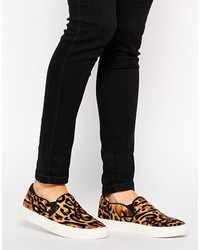 Jerayng leopard slip on sneakers leopard medium 125761