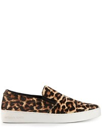 Michl kors keaton leopard print slip on sneakers medium 125763