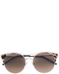 Jimmy Choo Eyewear Leopard Print Round Frame Sunglasses