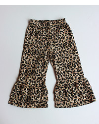 Brown Leopard Trousers