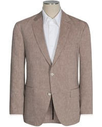 Brown Linen Blazer