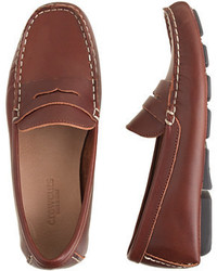J.Crew Kids Leather Penny Loafer Driving Mocs