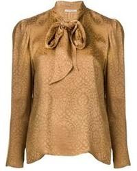 Yves vintage jacquard blouse medium 75002
