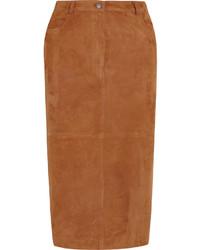 Brown midi skirt original 1471893