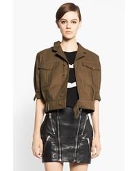 Saint Laurent Crop Cotton Jacket
