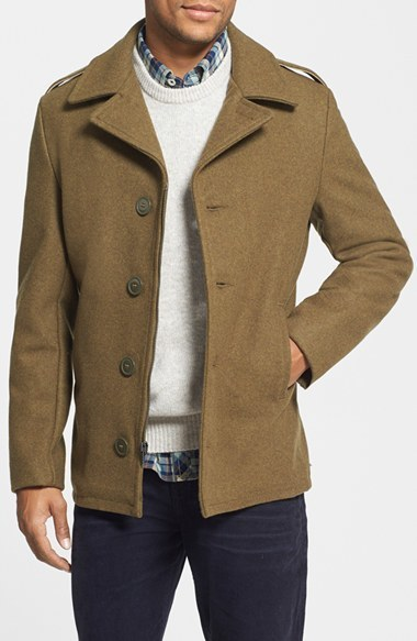 c674124fabd ... Schott NYC Slim Fit Wool Military Jacket ...