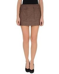 Brown Mini Skirt