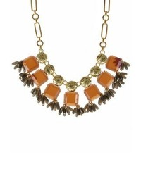 J.Crew Moog Necklace Dark Amber